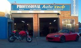 On location at Professional Auto Tech, a Auto Repair Shop in Brooklyn, NY